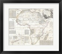 Framed 1794 Boulton and Anville Wall Map of Africa