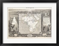 Framed 1847 Levasseur Map of Africa