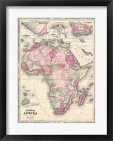 Framed 1864 Johnson Map of Africa