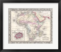 Framed 1864 Mitchell Map of Africa