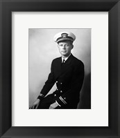 Framed 1942 JFK Uniform Portrait