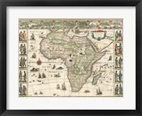 Framed Africa 1635, Willem Janszoon Blaeu