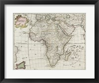 Framed Map of Africa 1745