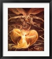 Framed William Blake the dragon