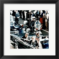 Framed JFK Motorcade Dallas, TX