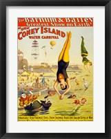 Framed Barnum & Bailey Coney Island Water Carnival