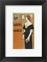 Framed Brooklyn Museum Poster for Harper's Magazine Edward Penfield
