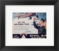 Framed CAP On the Air Force Team Poster