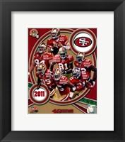 Framed San Francisco 49ers 2011 Team Composite
