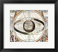 Framed Cellarius Ptolemaic System
