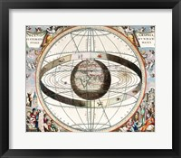 Framed Cellarius Ptolemaic System