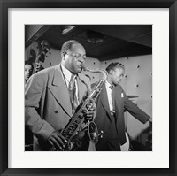 Framed Coleman Hawkins, Miles Davis