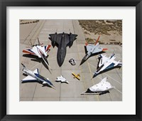Framed Collection of Military Aircraft