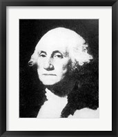 Framed Collier's 1921 Washington George - Gilbert Stuart