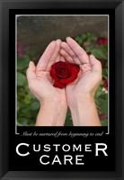Framed Customer Care Affirmation Poster, USAF