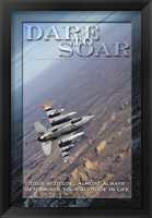Framed Dare to Soar Affirmation Poster, USAF