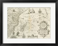 Framed East Africa and the Indian Ocean 1596, Arnold Florent van Langren