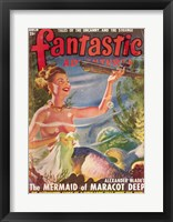 Framed Fantastic Adventures 1949 March Cover