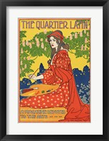 Framed Quartier Latin, a Magazine Devoted to the Arts, Advertising Poster, ca.1895