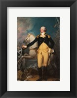 Framed General George Washington at Trenton by John Trumbull