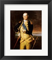 Framed George Washington by Peale 1776
