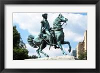 Framed George Washington Statue