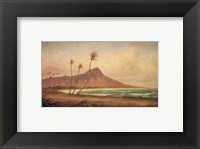 Framed Gideon Jacques Denny - 'Waikiki Beach', oil on canvas, 1868