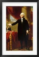 Framed Gilbert Stuart, George Washington Lansdowne Portrait, 1796