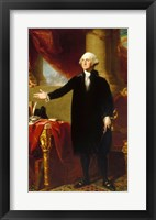 Framed Gilbert Stuart, George Washington Lansdowne Portrait, 1796