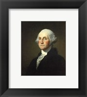 Framed Gilbert Stuart Williamstown Portrait of George Washington
