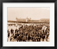 Framed Crowd at Atlantic City 1910