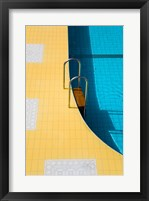Framed High angle view of a swimming pool ladder, Banderas Bay, Puerto Vallarta, Jalisco, Mexico