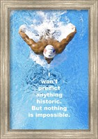 Framed Historic Swimming Quote
