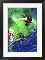 Framed US Navy Search and Rescue Swimmers