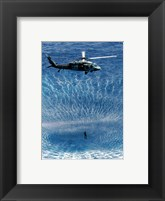 Framed US Navy Search and Rescue Diver