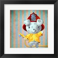Framed Little Firemans Helper