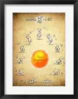 Framed Yoga Cow Sun Salutation