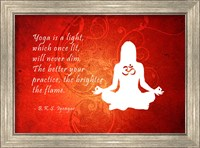 Framed Yoga Quote