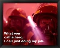 Framed Hero Quote
