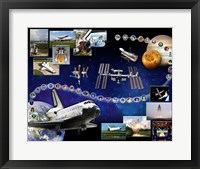 Framed Space Shuttle Atlantis Tribute