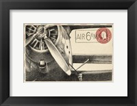 Small Vintage Air Mail II Framed Print