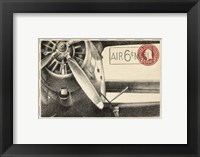 Framed Small Vintage Air Mail II