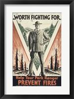 Framed Worth Fighting for, Help Your Park Ranger Prevent Fires