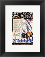 Framed History of Civic Services in the NYC Fire Department 1731