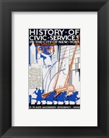 Framed History of Civic Services in the NYC Fire Department 1936
