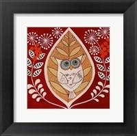 Framed Autumn Owl