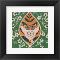 Framed Spring Owl