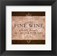 Wine Inspiration II Framed Print
