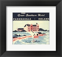 Framed Vintage Travel Label V