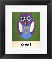 Framed O is for Owl